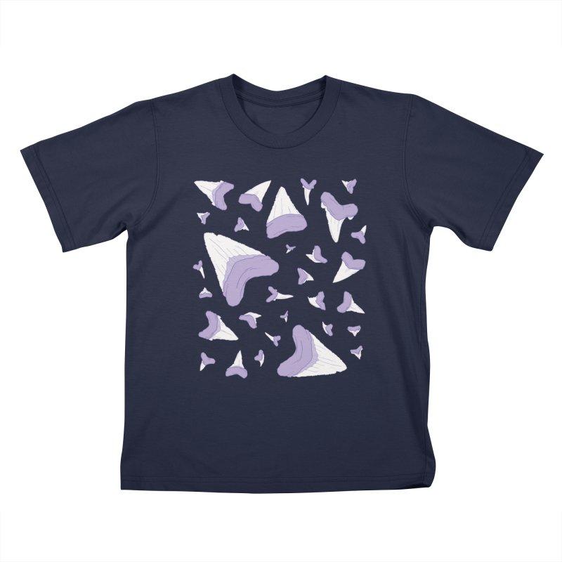 Shark Teeth // Beauty Bytes // Purple & Mint Kids T-Shirt by Byte Size Treasure's Shop
