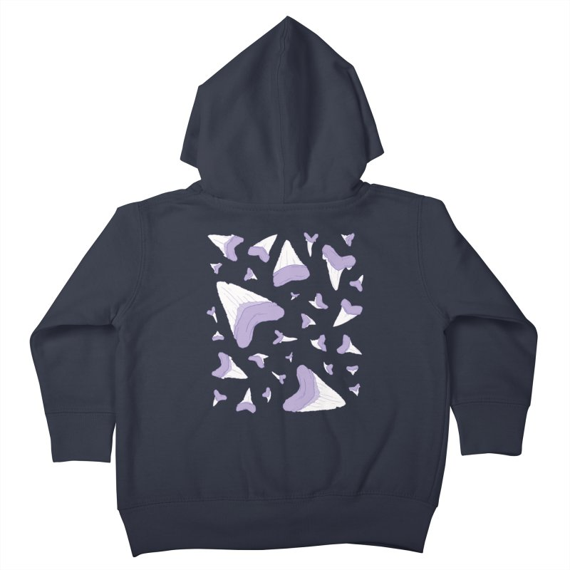 Shark Teeth // Beauty Bytes // Purple & Mint Kids Toddler Zip-Up Hoody by Byte Size Treasure's Shop