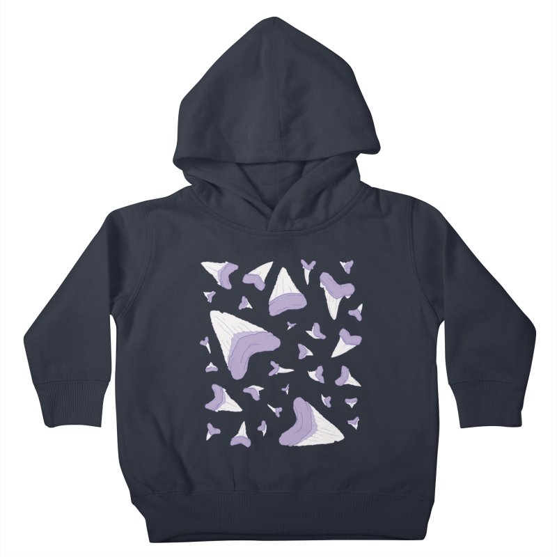 Shark Teeth // Beauty Bytes // Purple & Mint Kids Toddler Pullover Hoody by Byte Size Treasure's Shop