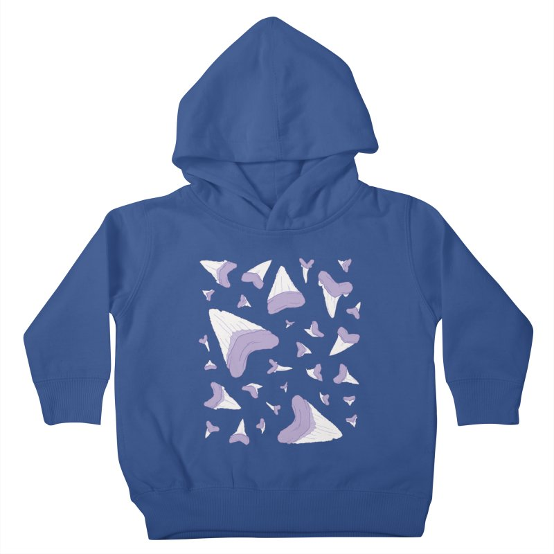 Shark Teeth // Beauty Bytes // Purple & Mint Kids Toddler Pullover Hoody by Byte Size Treasure's Shop