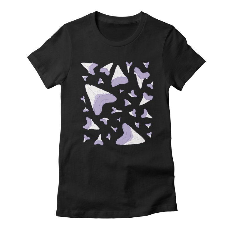 Shark Teeth // Beauty Bytes // Purple & Mint Women's Fitted T-Shirt by Byte Size Treasure's Shop