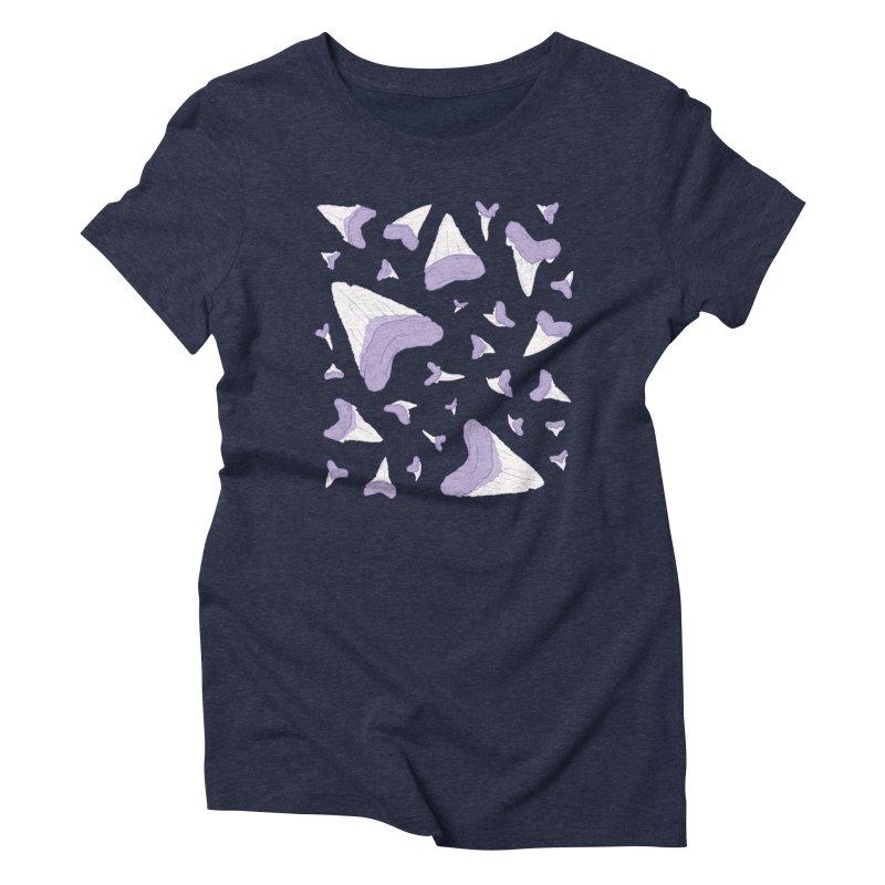 Shark Teeth // Beauty Bytes // Purple & Mint Women's Triblend T-Shirt by Byte Size Treasure's Shop