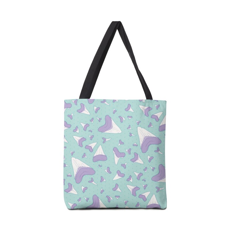 Shark Teeth // Beauty Bytes // Purple & Mint Accessories Bag by Byte Size Treasure's Shop