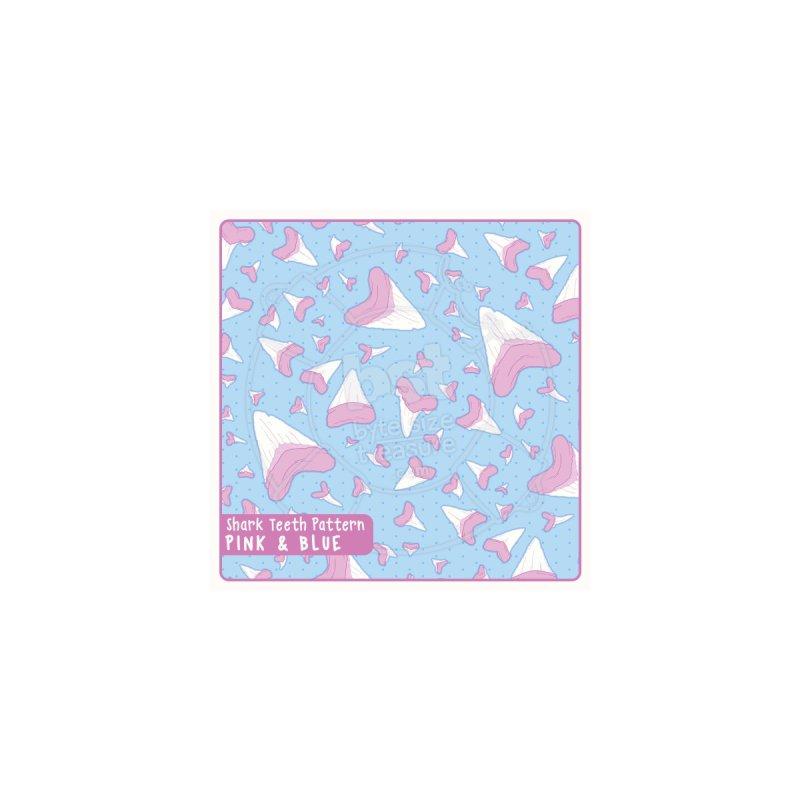 Shark Teeth // Beauty Bytes // Pink & Blue by Byte Size Treasure's Shop