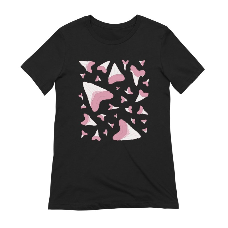 Shark Teeth // Beauty Bytes // Pink & Blue Women's Extra Soft T-Shirt by Byte Size Treasure's Shop