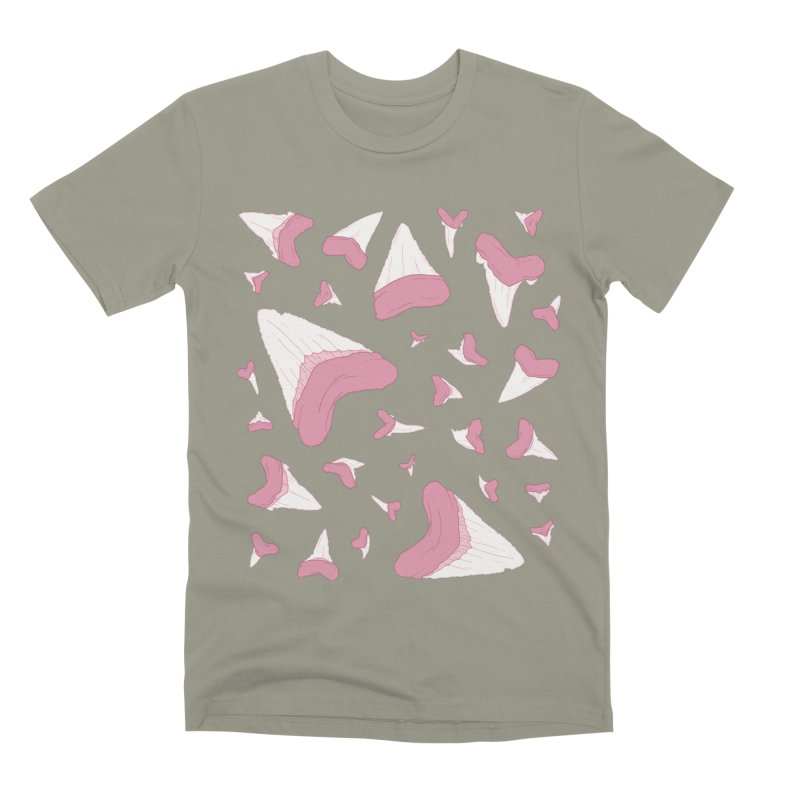 Shark Teeth // Beauty Bytes // Pink & Blue Men's Premium T-Shirt by Byte Size Treasure's Shop