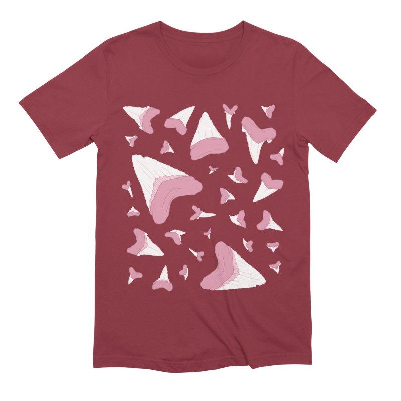 Shark Teeth // Beauty Bytes // Pink & Blue Men's Extra Soft T-Shirt by Byte Size Treasure's Shop