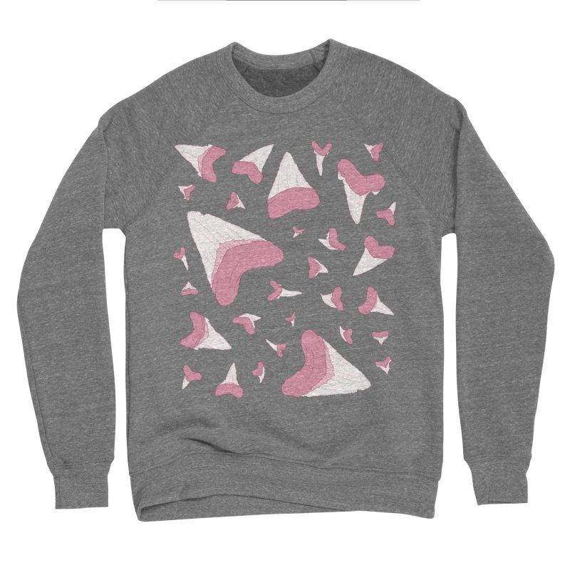Shark Teeth // Beauty Bytes // Pink & Blue Women's Sponge Fleece Sweatshirt by Byte Size Treasure's Shop