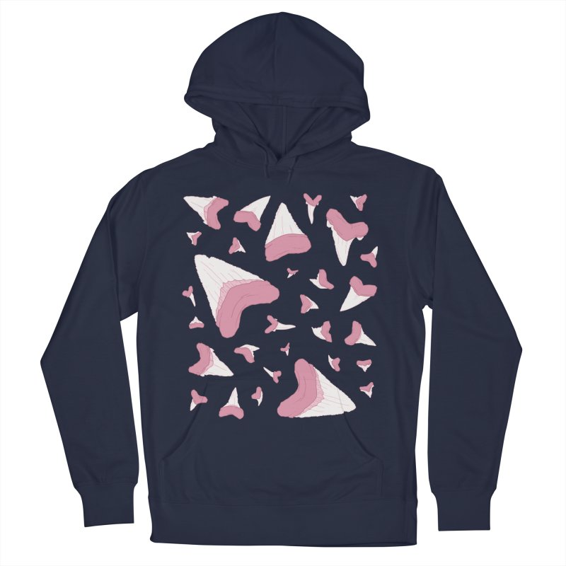 Shark Teeth // Beauty Bytes // Pink & Blue Men's French Terry Pullover Hoody by Byte Size Treasure's Shop