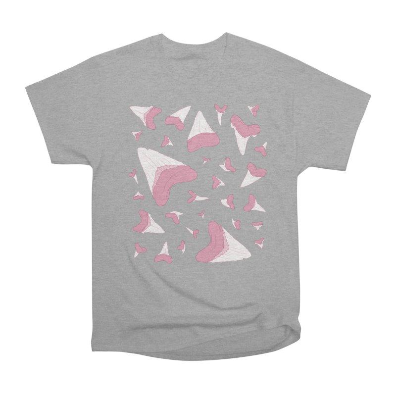 Shark Teeth // Beauty Bytes // Pink & Blue Men's Heavyweight T-Shirt by Byte Size Treasure's Shop