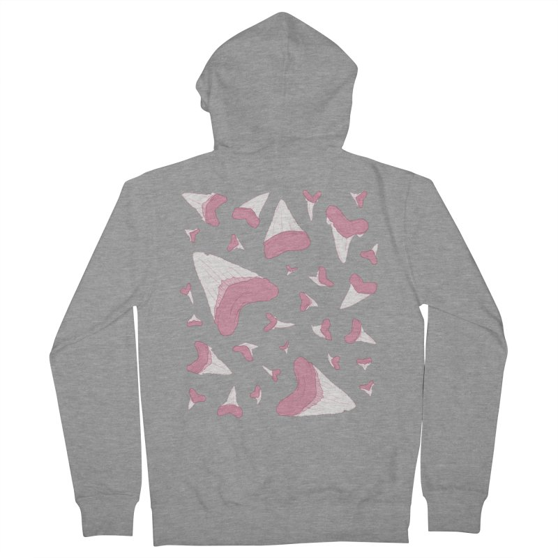 Shark Teeth // Beauty Bytes // Pink & Blue Women's French Terry Zip-Up Hoody by Byte Size Treasure's Shop