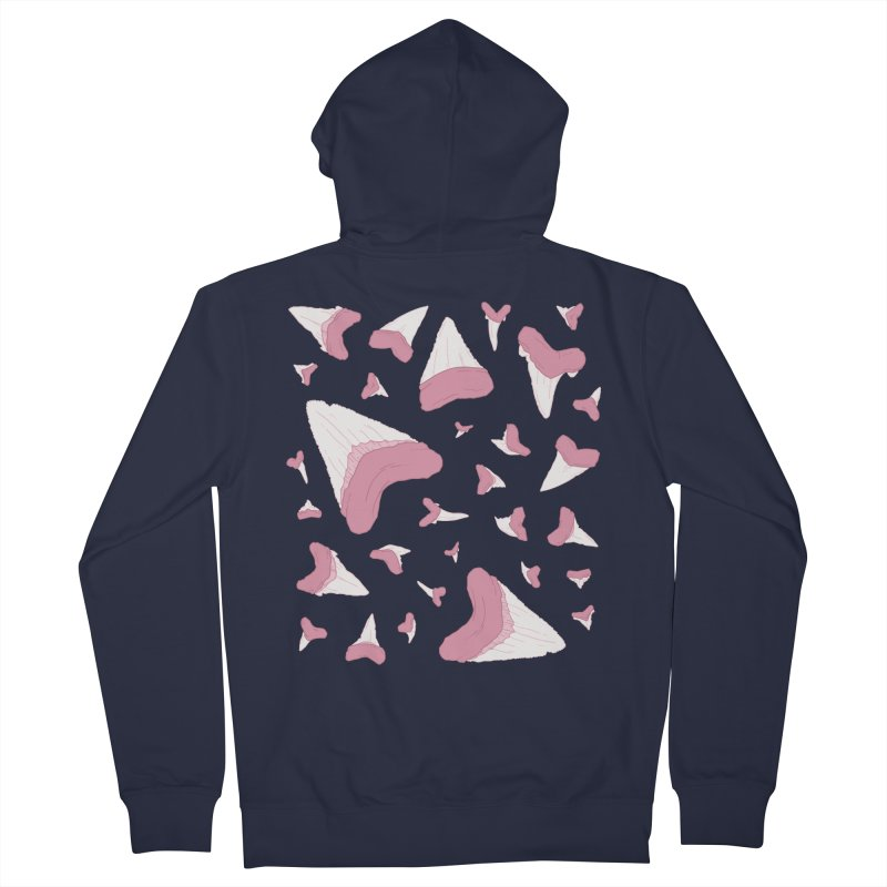 Shark Teeth // Beauty Bytes // Pink & Blue Men's French Terry Zip-Up Hoody by Byte Size Treasure's Shop
