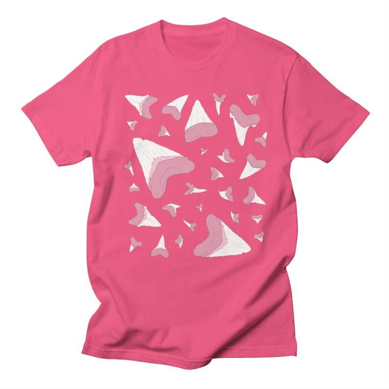 Shark Teeth // Beauty Bytes // Pink & Blue Men's Regular T-Shirt by Byte Size Treasure's Shop