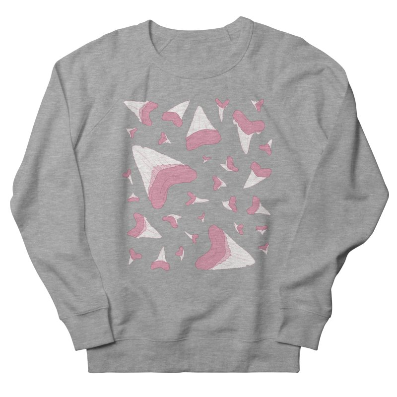 Shark Teeth // Beauty Bytes // Pink & Blue Women's French Terry Sweatshirt by Byte Size Treasure's Shop