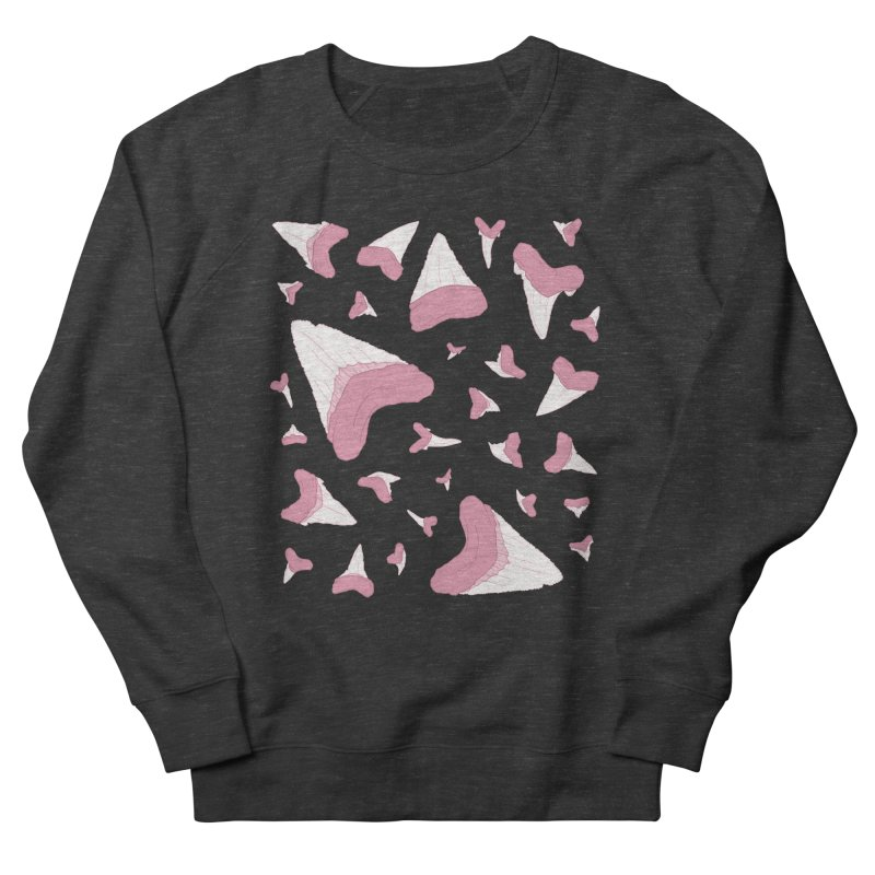 Shark Teeth // Beauty Bytes // Pink & Blue Men's French Terry Sweatshirt by Byte Size Treasure's Shop