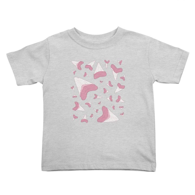 Shark Teeth // Beauty Bytes // Pink & Blue Kids Toddler T-Shirt by Byte Size Treasure's Shop