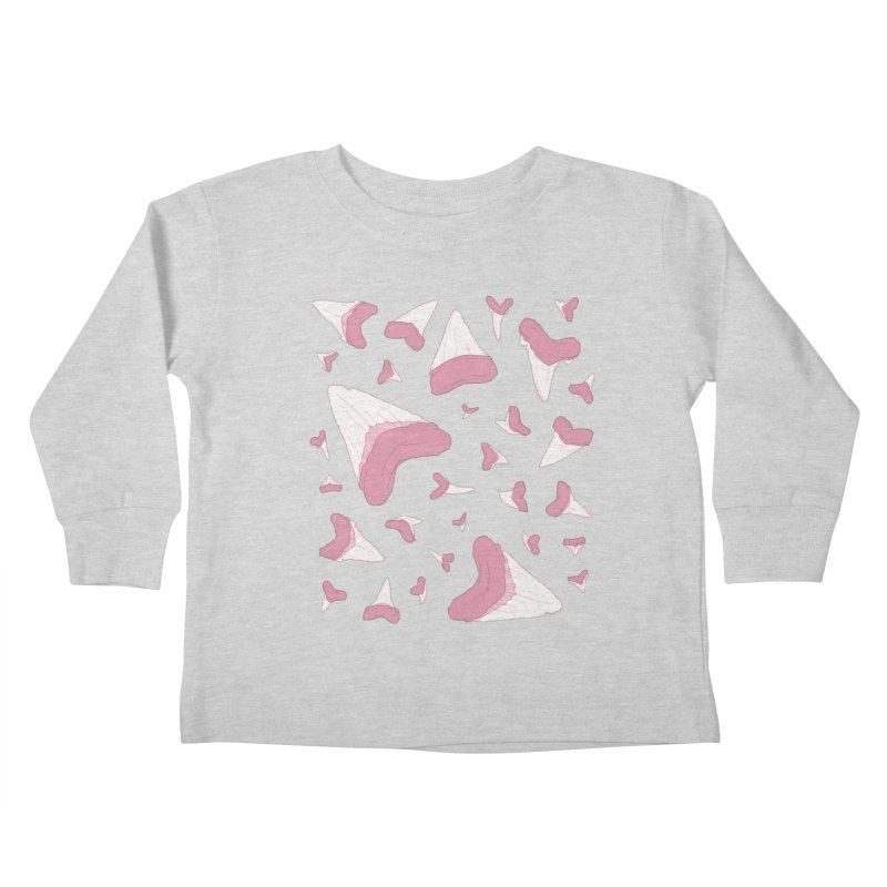 Shark Teeth // Beauty Bytes // Pink & Blue Kids Toddler Longsleeve T-Shirt by Byte Size Treasure's Shop