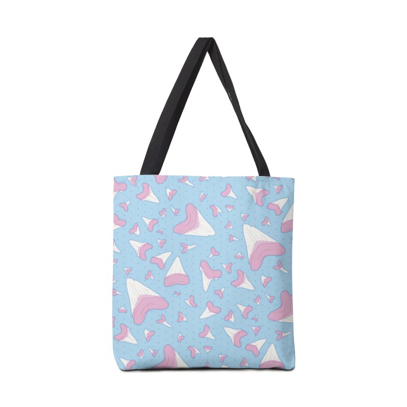 Shark Teeth // Beauty Bytes // Pink & Blue Accessories Bag by Byte Size Treasure's Shop