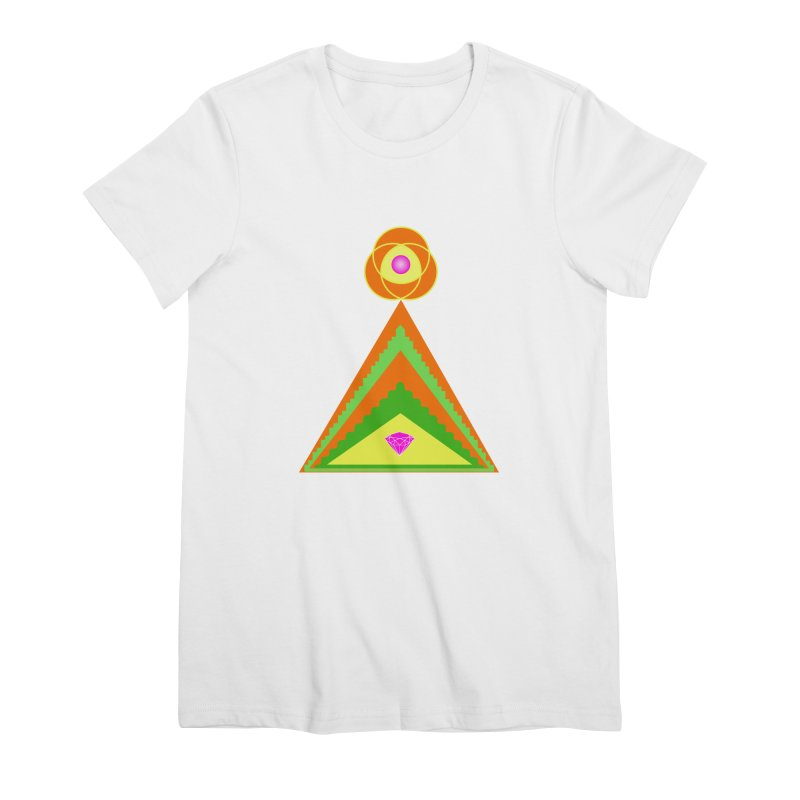 Within the Diamond Pyramid Women's Premium T-Shirt by By the Ash Tree