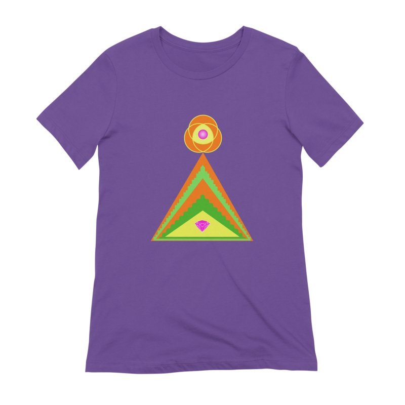 Within the Diamond Pyramid Women's Extra Soft T-Shirt by By the Ash Tree