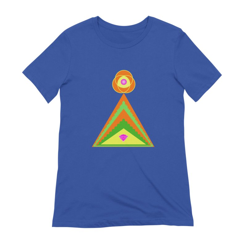Diamond Pyramid Women's Extra Soft T-Shirt by By the Ash Tree
