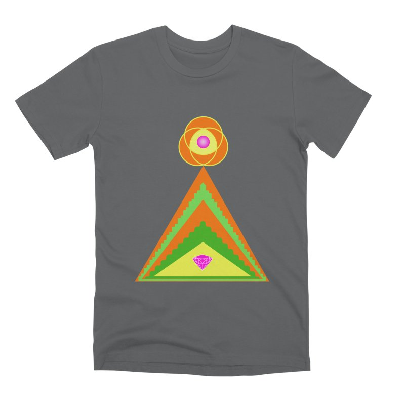 Diamond Pyramid Men's Premium T-Shirt by By the Ash Tree