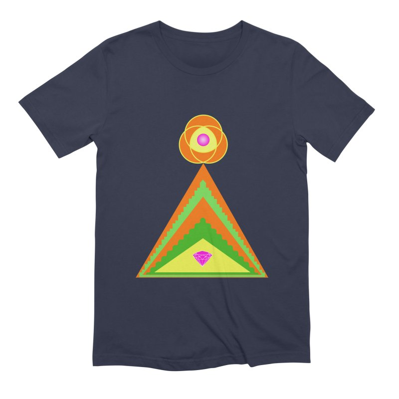 Diamond Pyramid Men's Extra Soft T-Shirt by By the Ash Tree