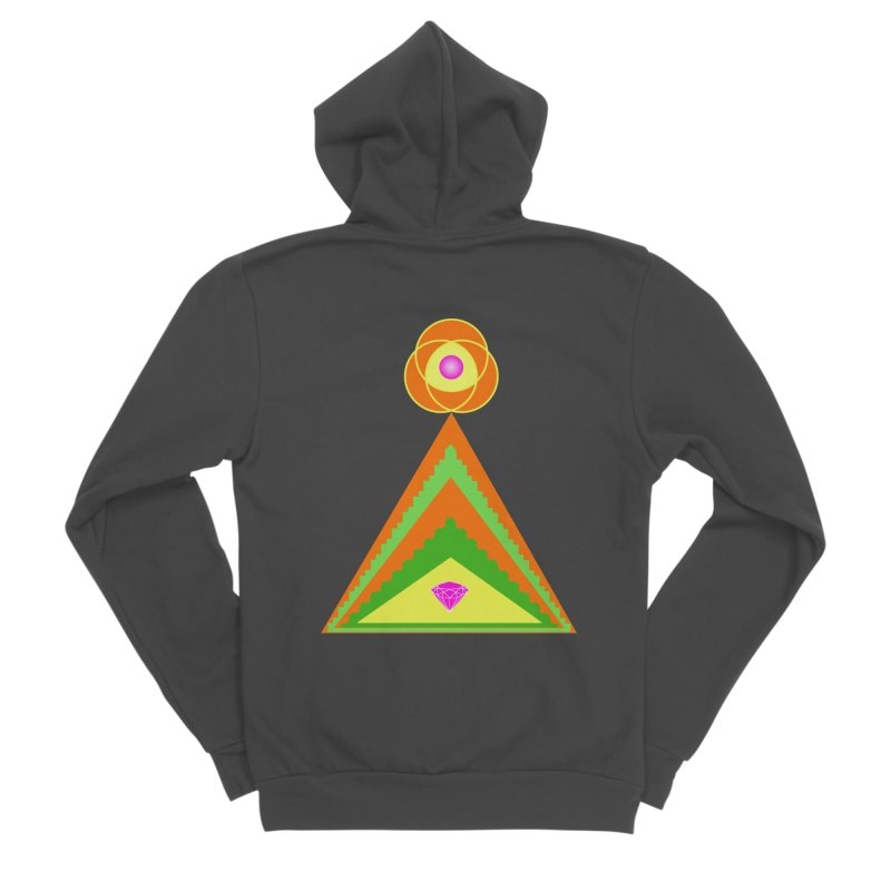Within the Diamond Pyramid Men's Sponge Fleece Zip-Up Hoody by By the Ash Tree