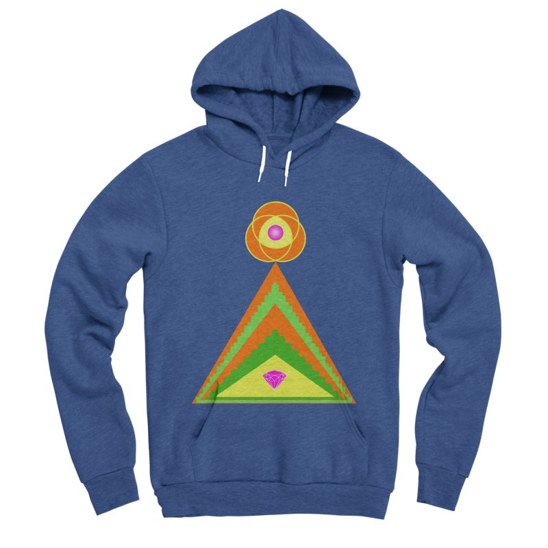 Within the Diamond Pyramid Men's Sponge Fleece Pullover Hoody by By the Ash Tree