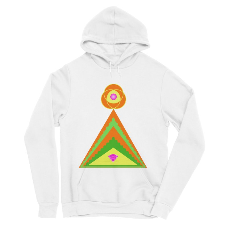 Diamond Pyramid Men's Sponge Fleece Pullover Hoody by By the Ash Tree