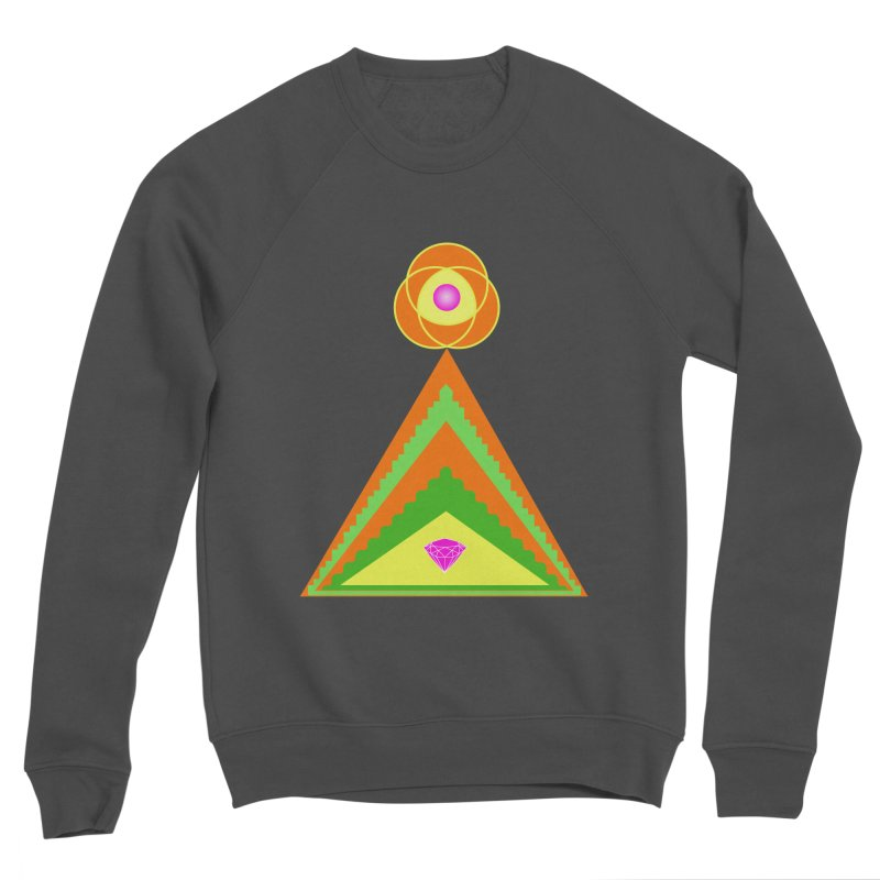 Within the Diamond Pyramid Men's Sponge Fleece Sweatshirt by By the Ash Tree