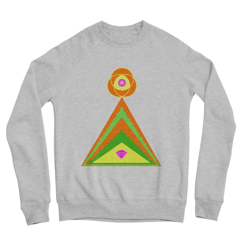 Diamond Pyramid Men's Sponge Fleece Sweatshirt by By the Ash Tree