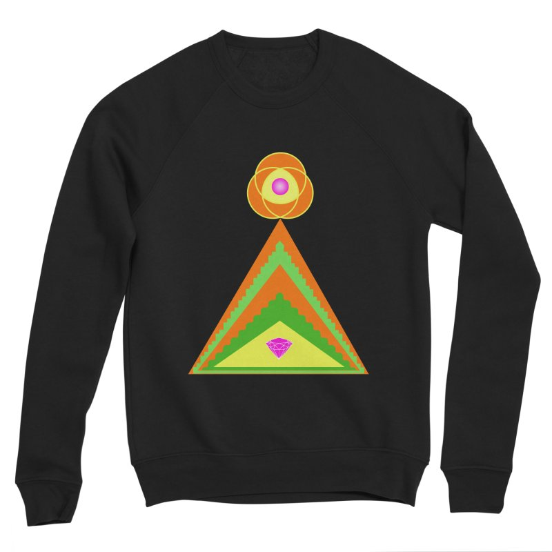 Within the Diamond Pyramid Men's Sponge Fleece Sweatshirt by By the Ash Tree