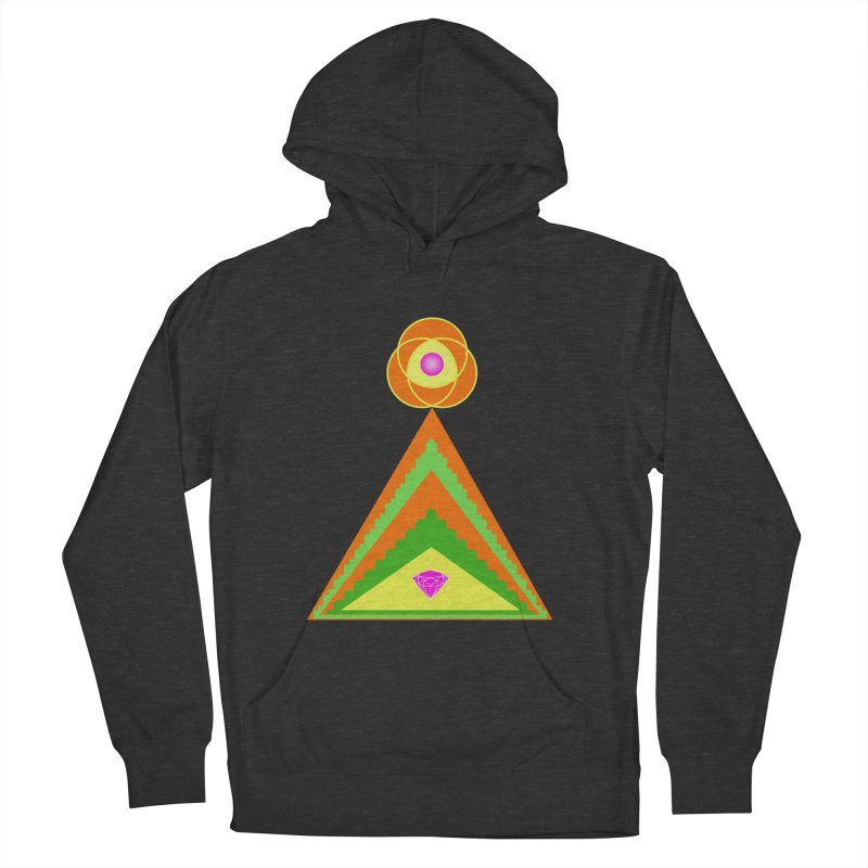 Within the Diamond Pyramid Women's French Terry Pullover Hoody by By the Ash Tree