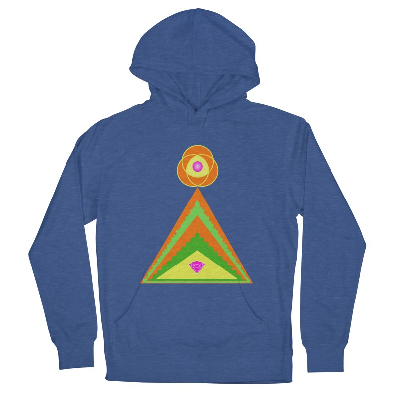 Diamond Pyramid Women's French Terry Pullover Hoody by By the Ash Tree