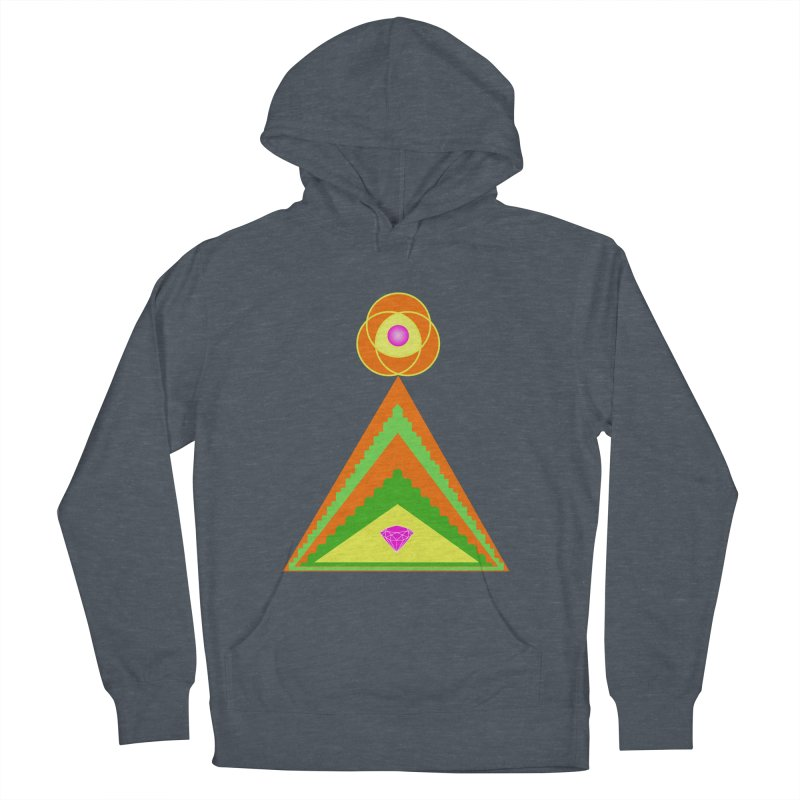 Within the Diamond Pyramid Men's French Terry Pullover Hoody by By the Ash Tree