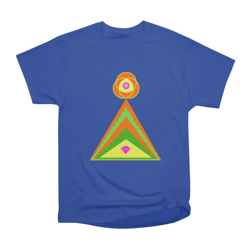 Diamond Pyramid Women's Heavyweight Unisex T-Shirt by By the Ash Tree