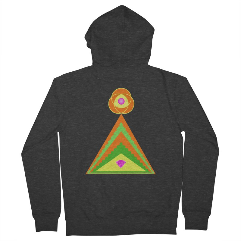 Within the Diamond Pyramid Women's French Terry Zip-Up Hoody by By the Ash Tree