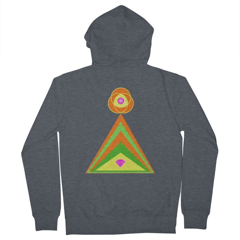 Diamond Pyramid Men's French Terry Zip-Up Hoody by By the Ash Tree
