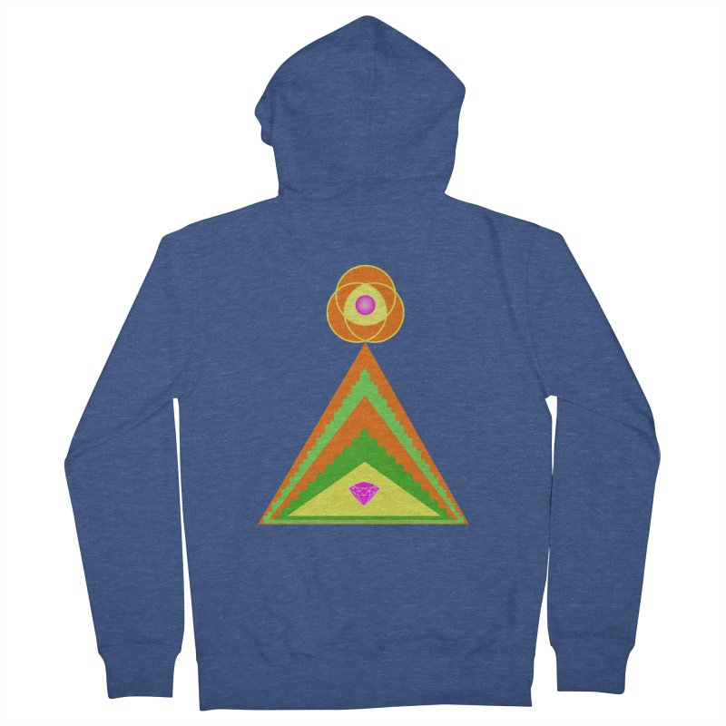 Within the Diamond Pyramid Men's Zip-Up Hoody by By the Ash Tree