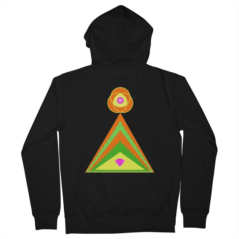 Within the Diamond Pyramid Men's French Terry Zip-Up Hoody by By the Ash Tree