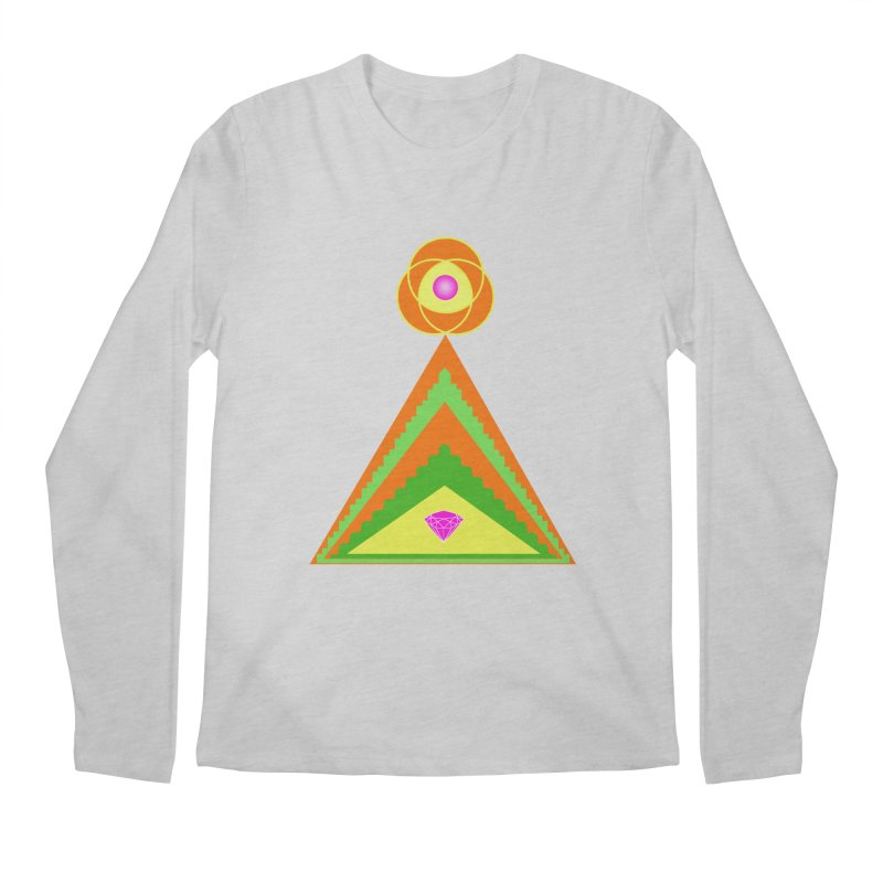 Within the Diamond Pyramid Men's Regular Longsleeve T-Shirt by By the Ash Tree