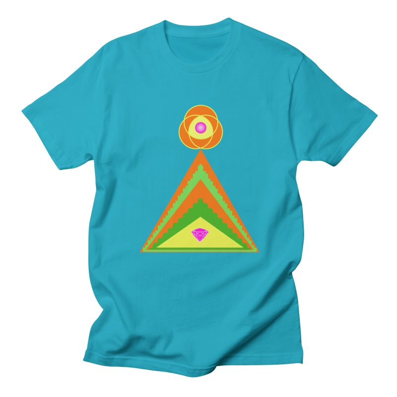 Within the Diamond Pyramid Men's Regular T-Shirt by By the Ash Tree