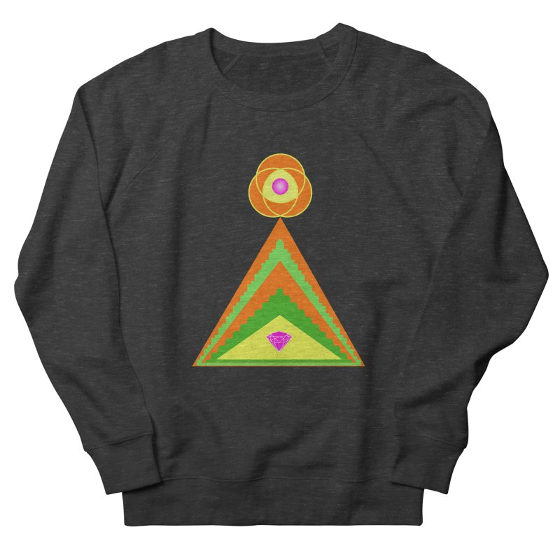 Diamond Pyramid Women's French Terry Sweatshirt by By the Ash Tree