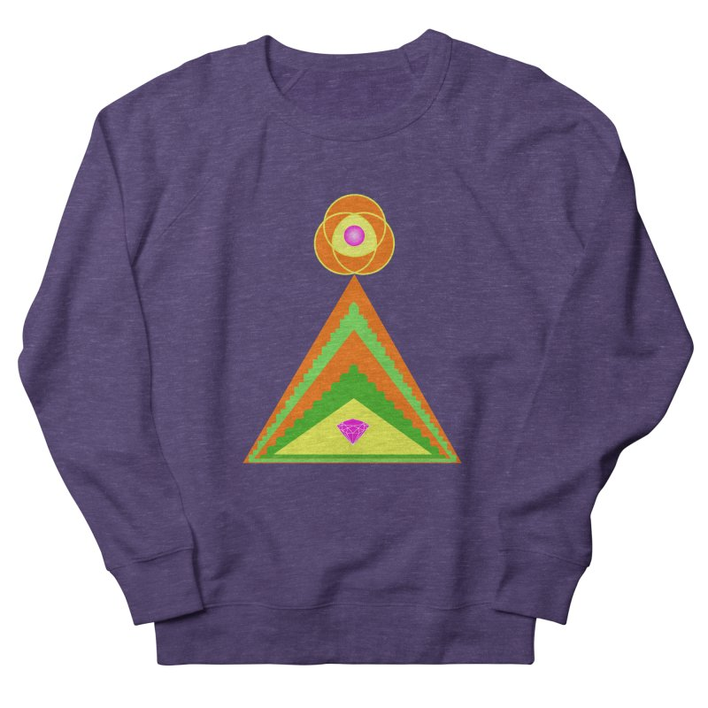 Within the Diamond Pyramid Women's French Terry Sweatshirt by By the Ash Tree