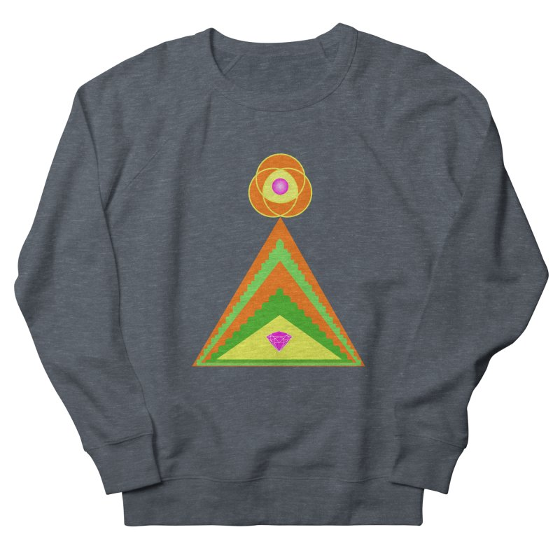 Diamond Pyramid Men's French Terry Sweatshirt by By the Ash Tree