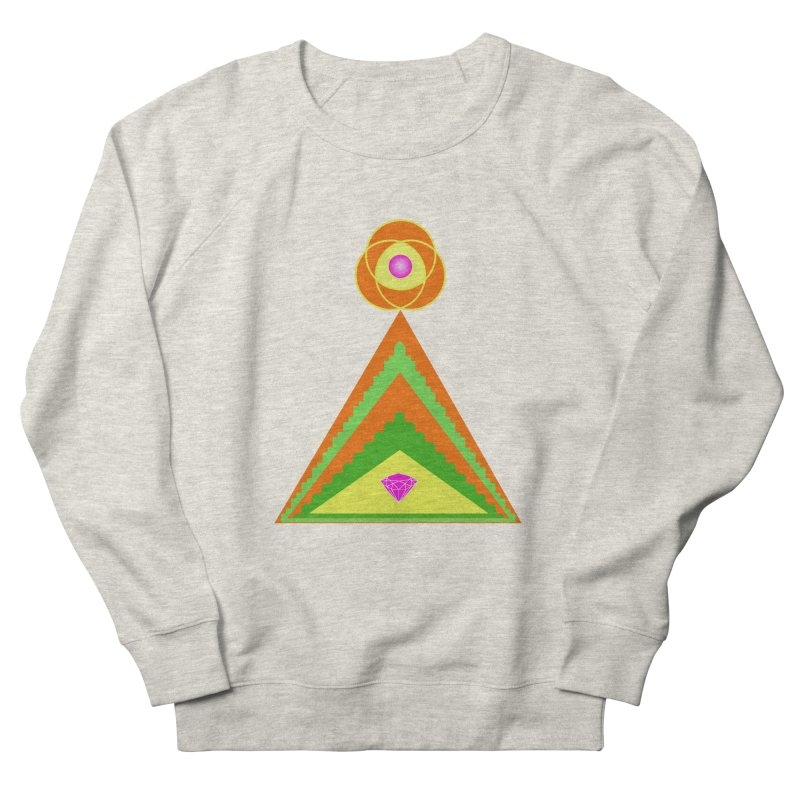 Within the Diamond Pyramid Men's French Terry Sweatshirt by By the Ash Tree