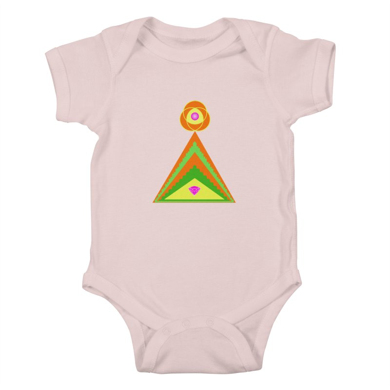 Within the Diamond Pyramid Kids Baby Bodysuit by By the Ash Tree