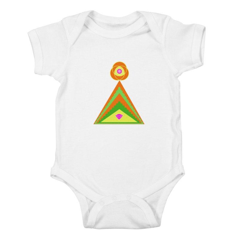 Diamond Pyramid Kids Baby Bodysuit by By the Ash Tree