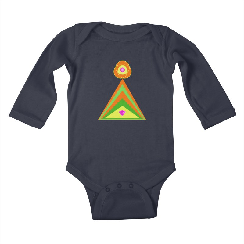 Within the Diamond Pyramid Kids Baby Longsleeve Bodysuit by By the Ash Tree